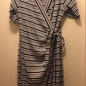 Plus Size Strip Wrap Dress